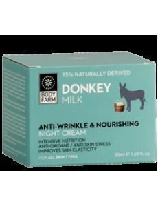 Anti-Wringle & Nourishing Night Cream Donkey milk 50ml