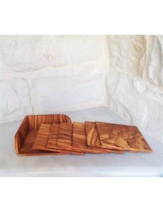 Olive wood Squared Coaster