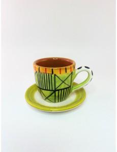 CERAMIC ESPRESSO CUP & PLATE