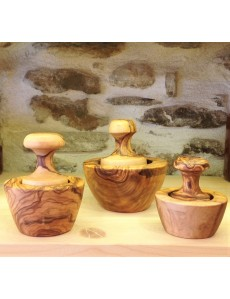 OLIVE WOOD  MORTAR  with PESTLE
